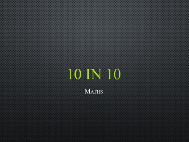 10 in 10 arithmetic