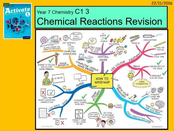 """A digital revision and DIRT feedback lesson for the Year 7 C1 3 """"Chemical Reactions"""" topic."""