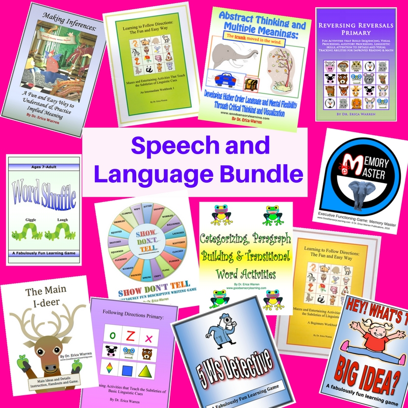 Speech and Language Bundle: Comprehensive Resources that Strengthen Receptive and Expressive Language Skills