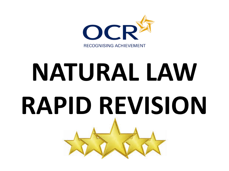 Natural Law (Ethical Theory) Revision Sheet