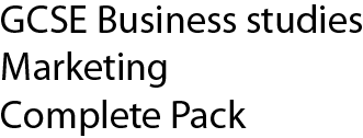 GCSE Business studies marketing complete pack
