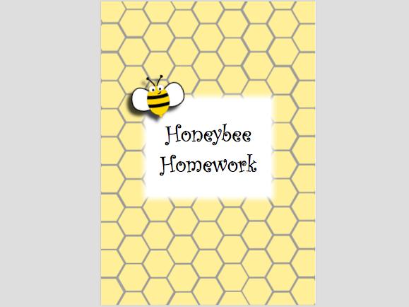 Bee Theme Homework Folder Cover