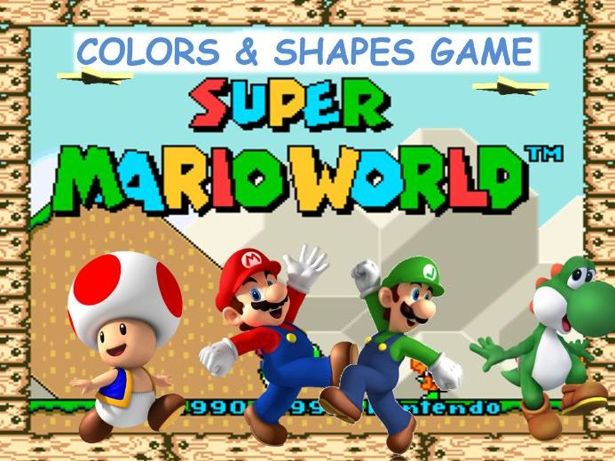 Mario Adventure Game - Shapes and Colors Practice - Grades K-1 - PowerPoint