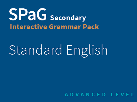 SPaG Secondary Interactive Grammar Pack - Standard English (Advanced Level)