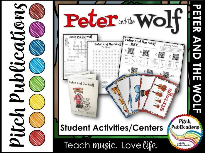 Peter and the Wolf - Student Activities (Centers)