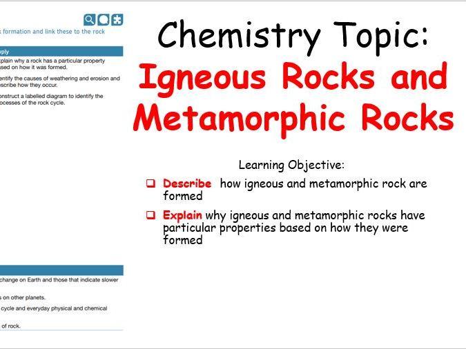 KS3 - Igneous Rocks and Metamorphic Rocks