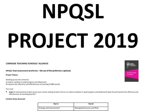 NPQSL 2019 Submission - Phonics and Spelling