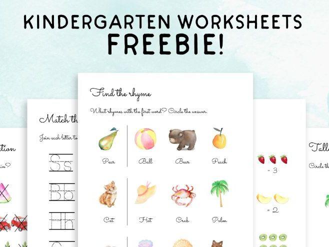 Sample of 5 kindergarten worksheets