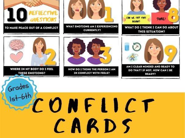 Conflict Reflection Cards w/ Presentation Slides
