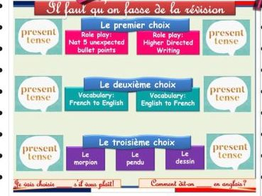 French grammar revision program - Present/Past/Imperfect/Future/Conditional tenses (& Reflexive)