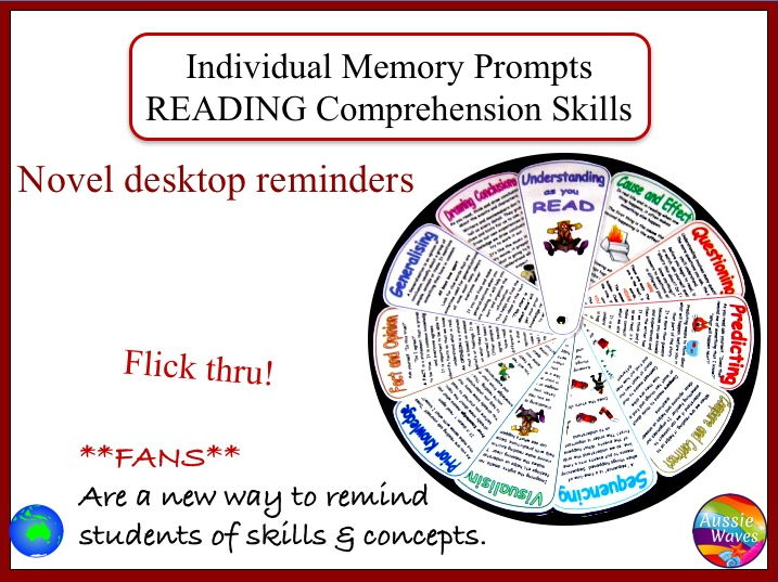 Reading Skill Explanations and Reminders on a Desktop Memory Fan