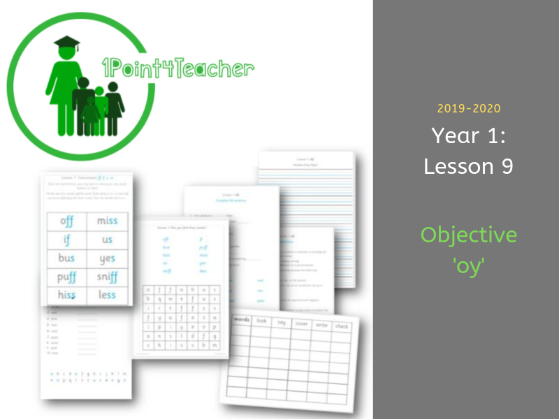 Year 1 Spelling Objective (9) oy
