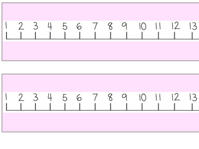 Number lines 1-20 (Pastel & Blank)