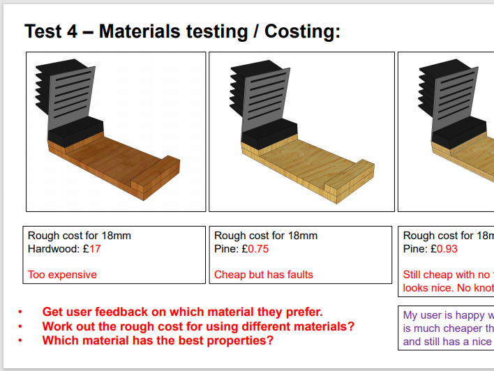 D&T How to show testing on Sketch UP (CAD) Powerpoint - Suitable for Ks3 & Ks4