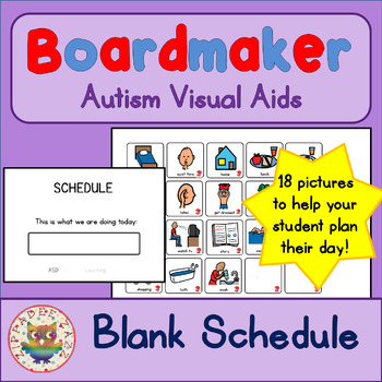 Unisex Visual Schedule - Boardmaker Visual Aids for Autism