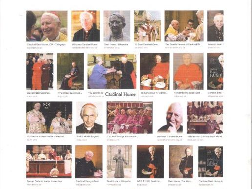 Cardinal Hume (1923-199) Archbishop of Westminster