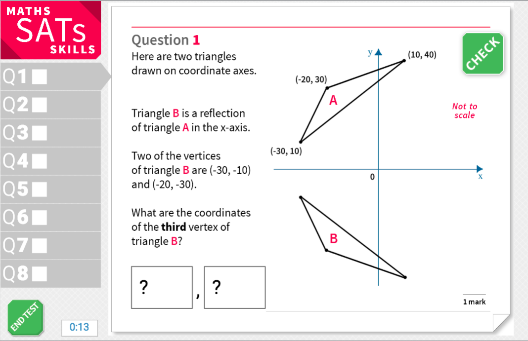 Translate simple shapes - KS2 Maths Sats Reasoning - Interactive Exercises