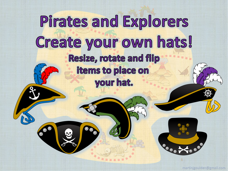 Pirates Hats - Create your own hats (explorers)