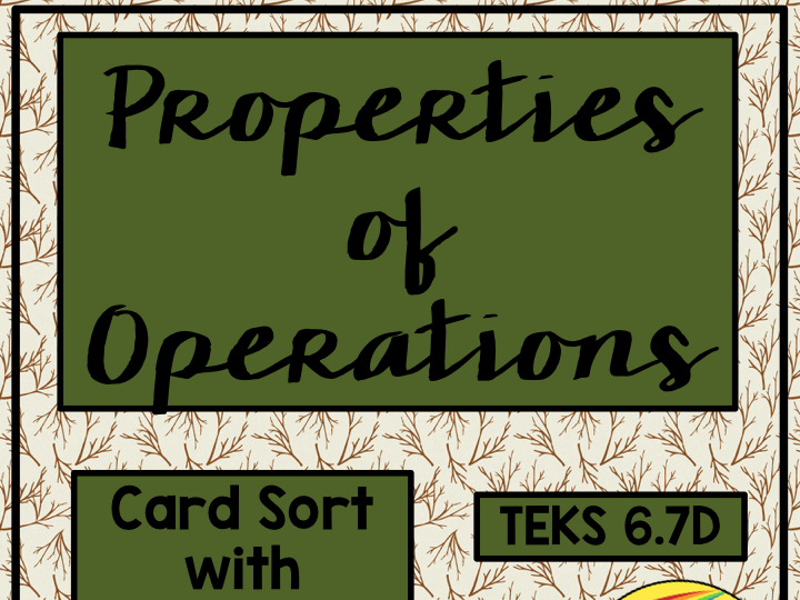 Properties of Operations Card Sort