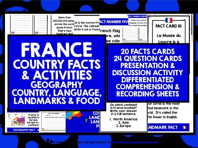 ELEMENTARY FRENCH FACTS ACTIVITIES 1