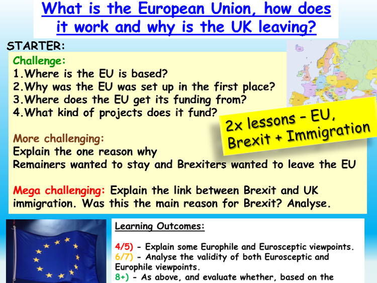 Citizenship GCSE 9-1: EU and Immigration
