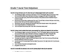 ABRSM Grade 7 Aural help sheet