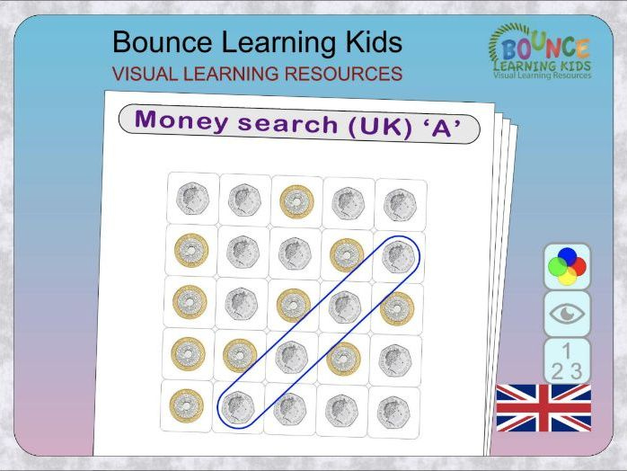Money Search (UK) - wordsearch with a twist