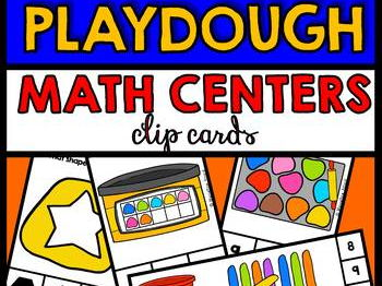 PLAYDOUGH MATH CENTERS BUNDLE (PRE K + KINDERGARTEN PLAYDOUGH THEME)