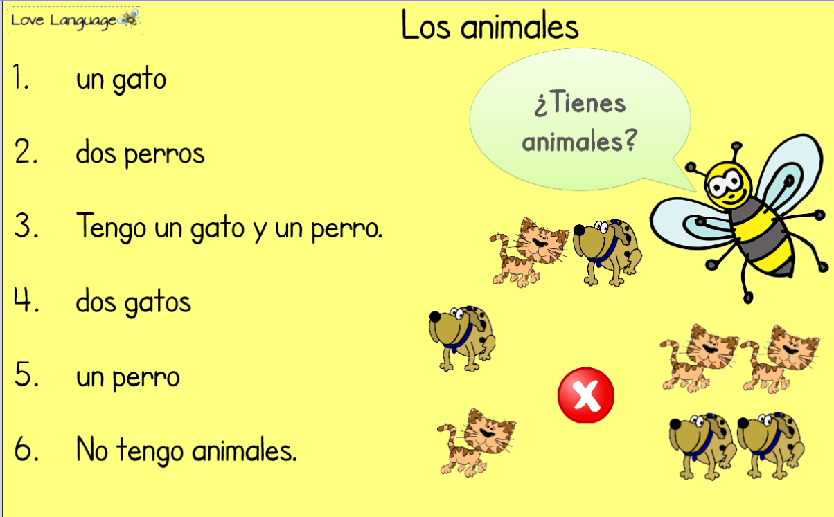Pets in Spanish - SmartBoard games