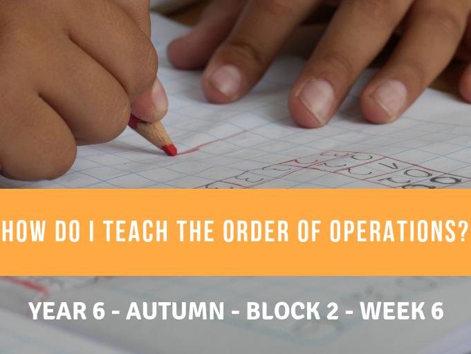 Number Year 6 Block 2 Week 6 Order of Operations