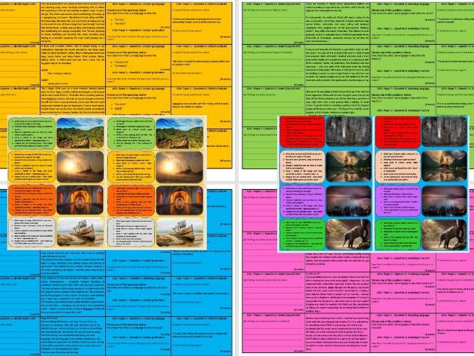 AQA 8700/1 GCSE English Language 80 Revision Card Pack
