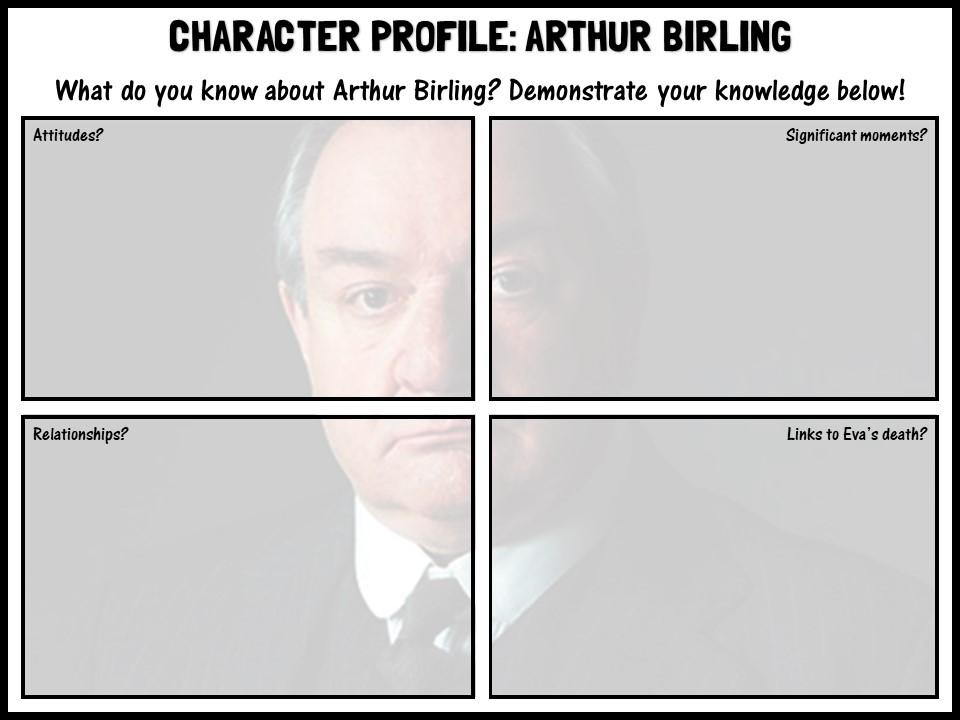 'An Inspector Calls' character profiles