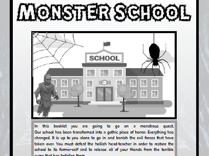 Creative Writing Booklet - Design Your Own Monster Quest - Gothic KS3
