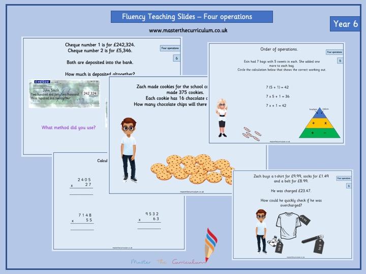 Year 6- Autumn 1- Block 2- Four operations- Fluency Teaching Slides White Rose Style