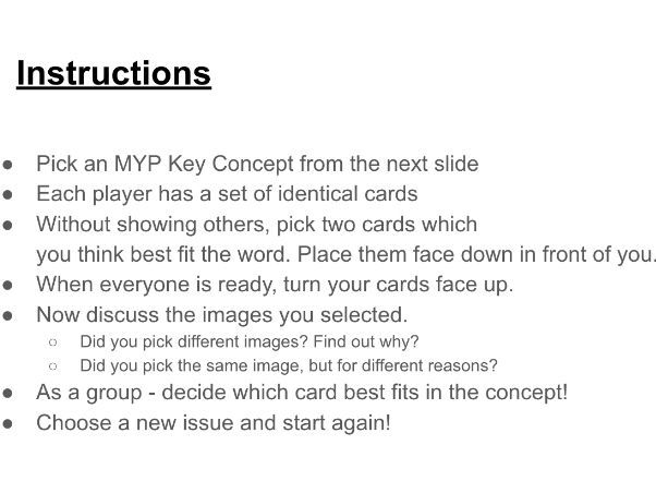 IB MYP Key Concepts by missedutton1 | Teaching Resources