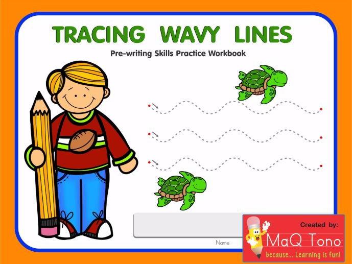 Tracing Wavy Lines Workbook