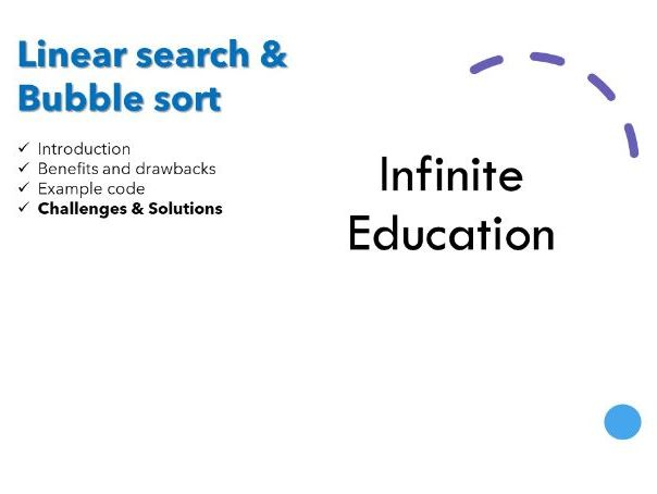 Python Linear search & Bubble sort