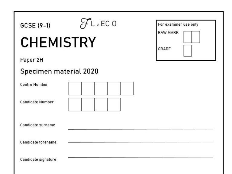 GCSE (9-1) [NEW] Chemistry Practice Paper 2H