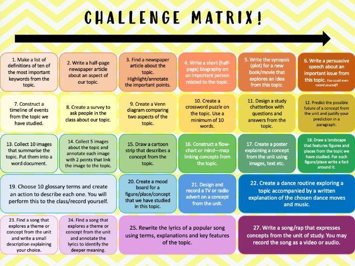 Challenge Matrix!