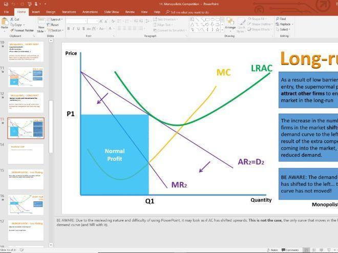 14. Monopolistic Competition (Slides, Activities and Notes) - Edexcel A-Level Economics - Theme 3