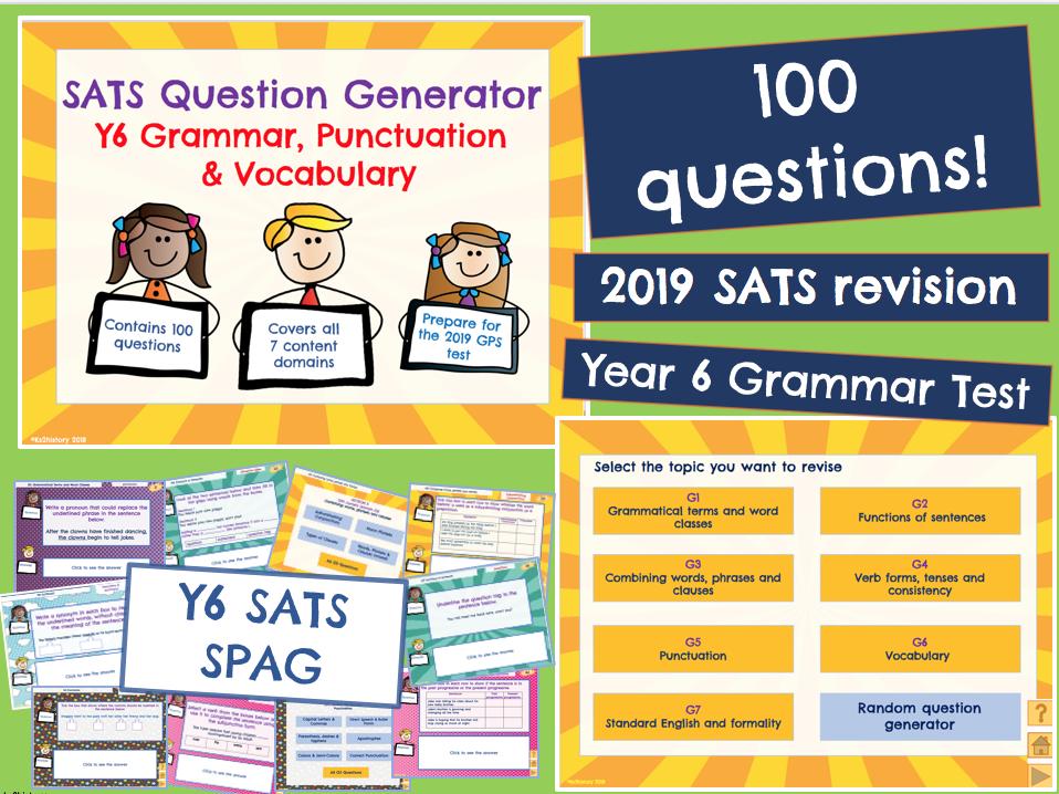 Y6 SATS: SPAG  (KS2 revision)
