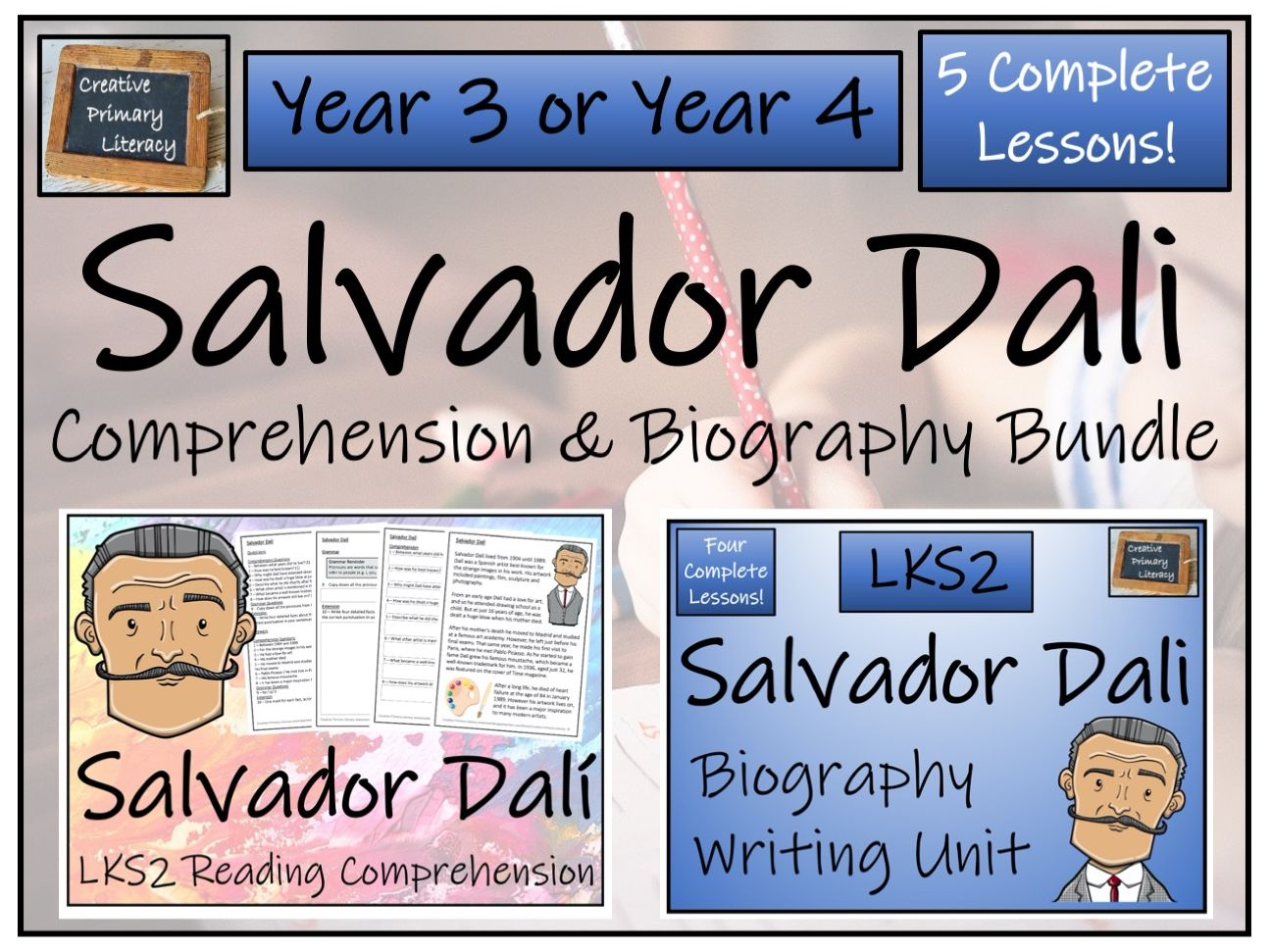 LKS2 Salvador Dali Reading Comprehension & Biography Bundle