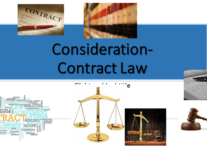 Contract Law-A-level (OCR NEW SPEC)- Consideration -Lesson & Activities