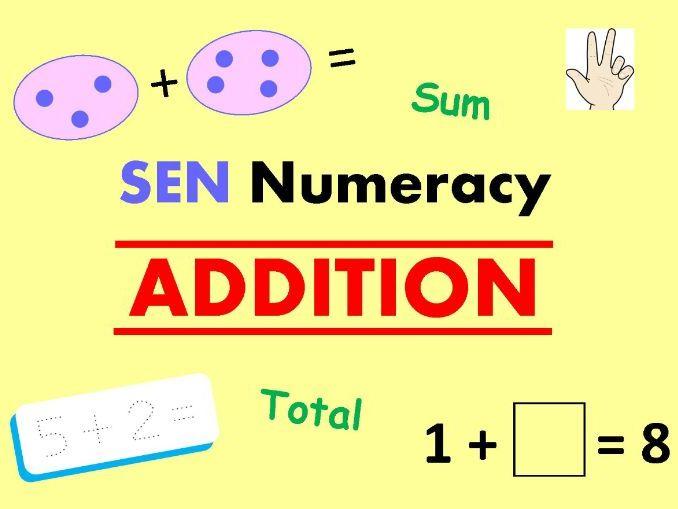 SEN Numeracy - ADDITION