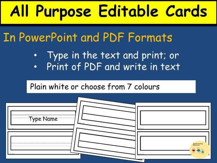 Editable Labels, Classroom management