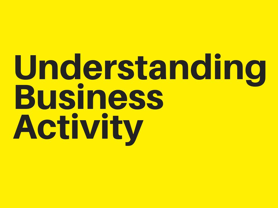 Understanding Business Activity Complete Chapter