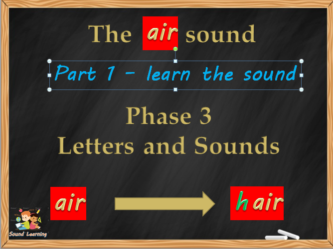 PowerPoints to teach the AIR trigraph