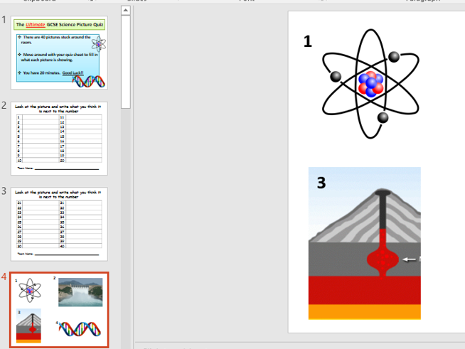 AQA GCSE (9-1) Science Picture Quiz