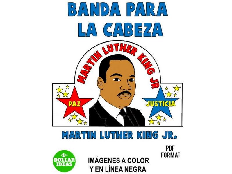 MARTIN LUTHER KING ACTIVIDADES   MLK   SPANISH   ESPAÑOL   BANDA PARA LA CABEZA