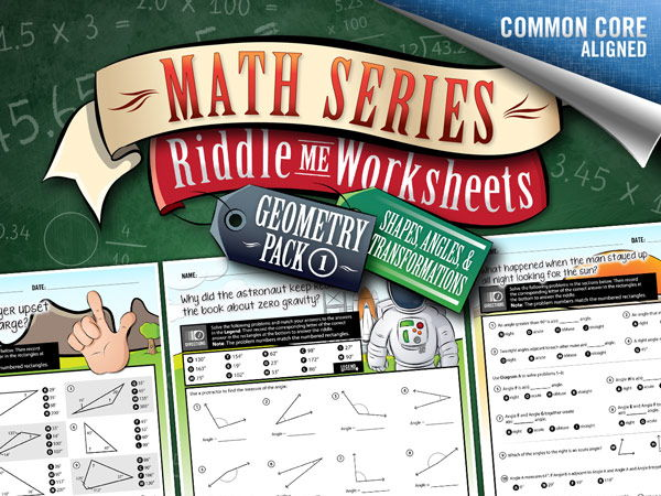 Geometry Worksheets 1: Shapes, Angles, and Transformations – Math Riddles
